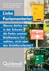 """Plakat """"Liebe Parlamentarier..."""" (2019)"""
